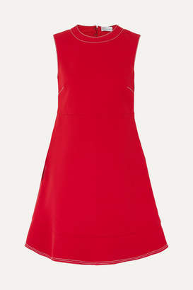 RED Valentino Cutout Bow-detailed Crepe Mini Dress