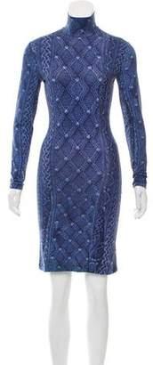 Preen by Thornton Bregazzi Printed Long Sleeve Dress