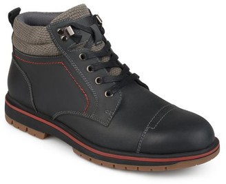 Territory Mens Lace-up Genuine Leather Cap Toe Boots