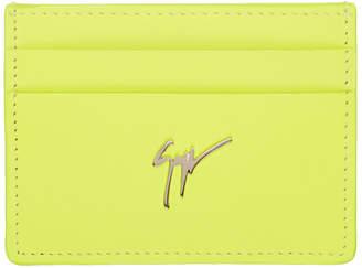 Giuseppe Zanotti Yellow Neon Logo Card Holder