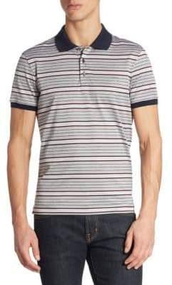 Salvatore Ferragamo Striped Cotton Polo