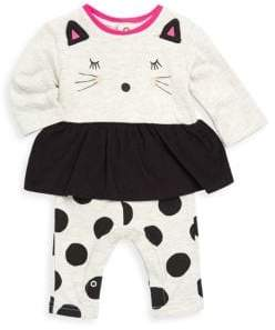 Catimini Baby Girl's Cotton Cat Romper
