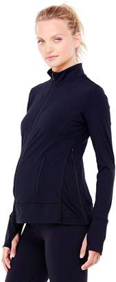 Ingrid & Isabel Women's Maternity Side Zip Active Jacket