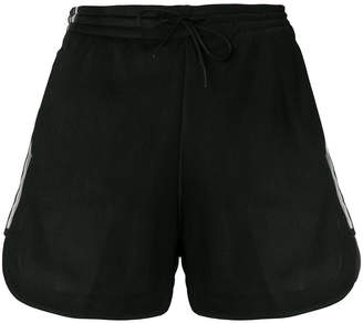 Y-3 sheer side stripe shorts