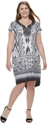 Plus Size World Unity Printed Sublimation Dress