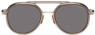 Dita Grey and Gold Spacecraft Sunglasses