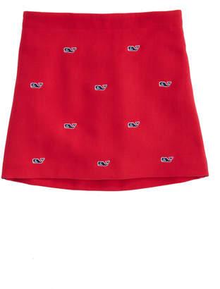 Vineyard Vines Girls Ponte Embroidered Holiday Skirt