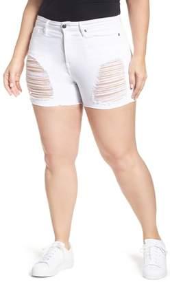 Good American Destroyed Cutoff Denim Shorts