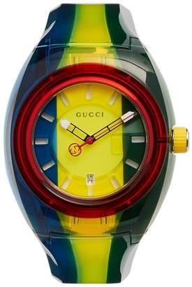 Gucci Sync striped watch