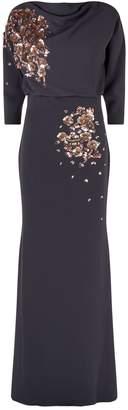 Badgley Mischka Floral Embellished Gown
