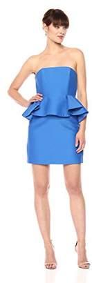 Halston Women's Strapless Dress with Peplum