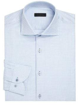 COLLECTION Checked Button-Down Dress Shirt