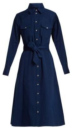 A.P.C. Annie point-collar cotton-denim shirtdress