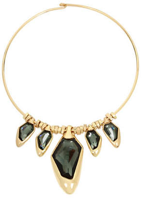 Robert Lee Morris SOHO Faceted Stone Wire Necklace