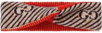 Gucci GG stripe wool headband
