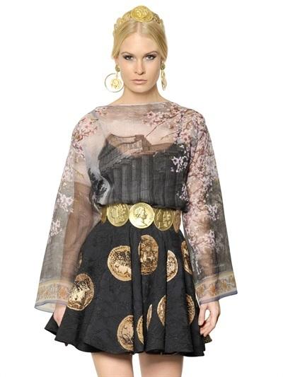 Dolce & Gabbana Silk Transparent Organza Shirt