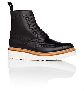 Grenson Fred Lace Up Boot W/ Brogue Detail And Wedge Sole