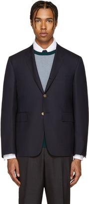Thom Browne Navy Wool Classic Blazer $1,530 thestylecure.com