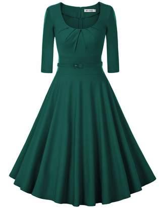 MUXXN Women's Plus Size Stretchy Comfy Flattering Wiggle Dress ( XXL)