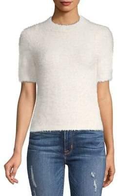 Kensie Faux Fur Mockneck Sweater