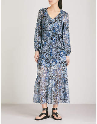 The Kooples Paisley-print silk-muslin midi dress