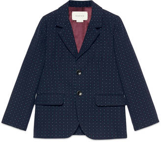 Children's dot pattern cotton wool jacket $730 thestylecure.com