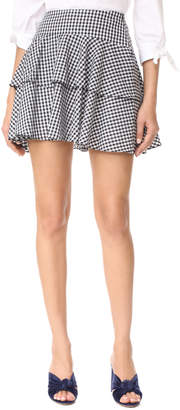 WAYF Rayan Tiered Skirt $78 thestylecure.com