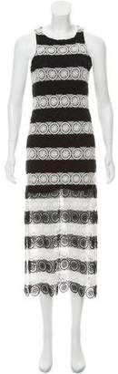 Alice + Olivia Crocheted Striped Dress