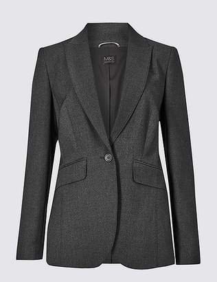 Marks and Spencer Textured Single Breasted Blazer