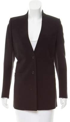 Givenchy Slit-Accented Collarless Blazer