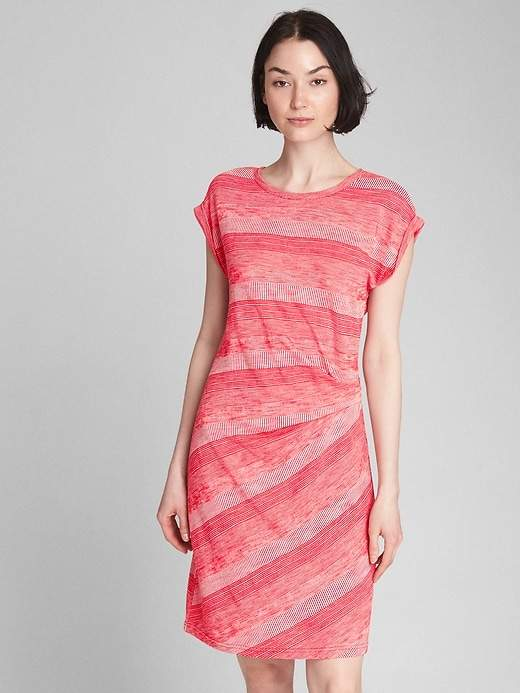 Stripe Gathered Waist Dress