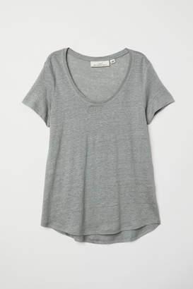 H&M Linen T-shirt - Green
