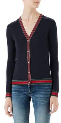 Gucci V-Neck Merino-Wool Cardigan