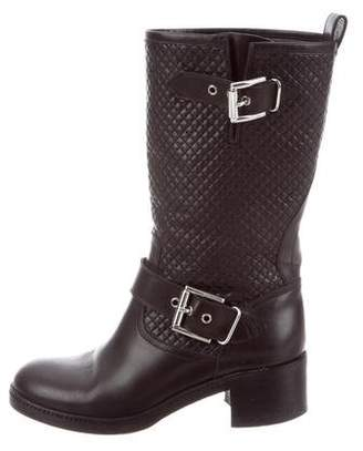 Gianvito Rossi Leather Motorcycle Boots
