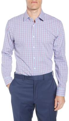Nordstrom Tech-Smart Trim Fit Stretch Plaid Dress Shirt