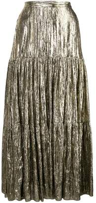 Michael Kors crushed lame tiered skirt