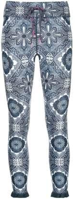 The Upside ruffle hem print leggings