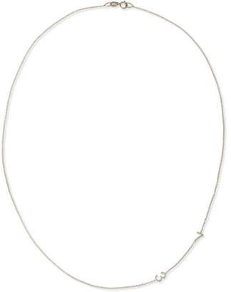 Maya Brenner Designs Mini 2-Number Necklace, White Gold
