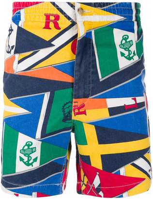 Polo Ralph Lauren flag print shorts