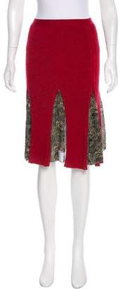 Jean Paul Gaultier Knit Knee-Length Skirt