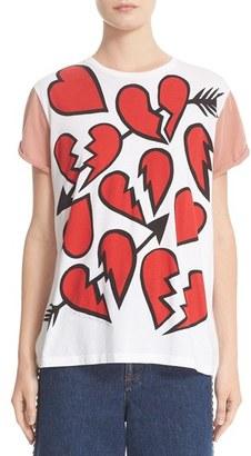 Women's Stella Mccartney Heart Graphic Tee $260 thestylecure.com