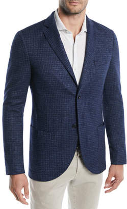 Loro Piana Men's Houndstooth Soft Blazer Jacket