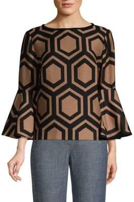 Trina Turk Splendid Bell-Sleeve Top