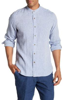 Toscano Long Sleeve Solid Linen Shirt