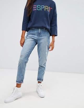 Esprit Embroidered Pocket Mom Jeans $72 thestylecure.com