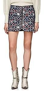 Etoile Isabel Marant Women's Marily Reversible Linen Miniskirt - Navy