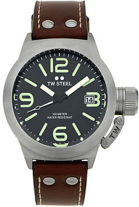 TW Steel Men's Canteen TWCS21 Brushed Steel Strap Watch
