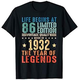 86 Years Old 1932 Vintage 86th Men Women Birthday T Shirt