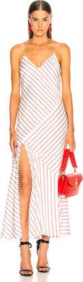 Nicholas Stripe Slip Panel Dress