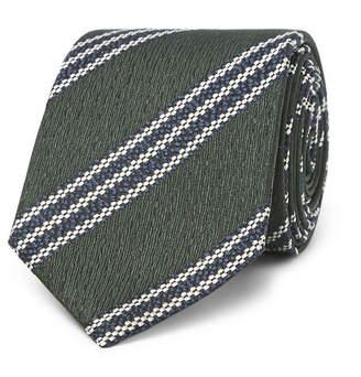 Ermenegildo Zegna 7cm Striped Textured-Silk Tie